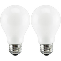 LED - A19 - 7.5 Watt - 60W Incandescent Equal - 700 Lumens - 2700 Kelvin Warm White - 2 Pack