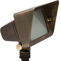 LED Ready - Flood Light Fixture - 12 Volt - 45 Deg. Beam Angle -  Bronze Housing - For Use with 2 Watt LED JC-G4
