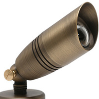 LED Ready -  Directional Bullet Light - 12 Volt - Narrow Flood Beam -  Bronze Finish - For Use with 6 Watt LED MR16