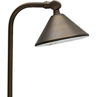 LED Ready - Newport Landscape Path Light - 12 Volt - Solid Brass - Bronze Finish - For Use with 2 Watt LED JC-G4 - PLT 50109