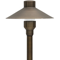 LED Ready - Laguna Landscape Path Light - 12 Volt - Solid Brass - Bronze Finish - For Use with 2 Watt LED JC-G4 - PLT 50110