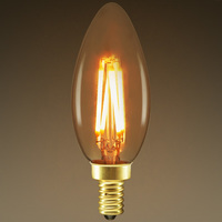 LED Chandelier Bulb - Color Matched For Incandescent Replacement - Tinted - 3W - 25W Equal - 210 Lumens - CRI 90 - PLT KC354MSGO22K