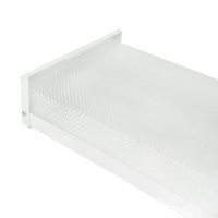LED Ready - Wraparound Fixture - Prismatic Lens - Length 48 in. x Width 8 in. -  Uses 2 LED Tubes (Sold Separately) - 120-277V - PLT 55029