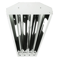 LED High Bay -  Works with direct wire 4 ft. LED T8 Lamps (Sold Separately) - Chain Mount - White Finish