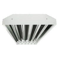LED High Bay -  Includes non-shunted sockets for use with 6 direct wire LED T8 Lamps (Sold Separately) - Chain Mount - White Finish