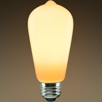 LED Edison Bulb - Color Matched For Incandescent Replacement - Frosted - 6 Watt - 40W Equal - 400 Lumens  - CRI 93 - PLT KST58N6LSOP22K