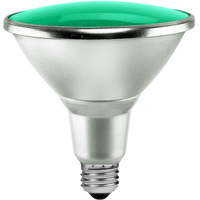 Green LED - PAR38 - 15 Watt - 90W Equal - 40 Deg. Flood - Wet Location