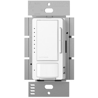White - Passive Infrared (PIR) Occupancy/Vacancy Sensor with Dimmer - 600W Max. - 120 Volt