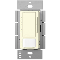 Light Almond - Passive Infrared (PIR) Occupancy/Vacancy Sensor with Dimmer - 600W Max. - 120 Volt