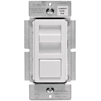 CFL/LED or Incandescent Dimmer - Single Pole/3-Way - White/Ivory/Light Almond - 600 Watt Maximum - Slide Switch - 120 Volt - Leviton Decora IPL06-10Z