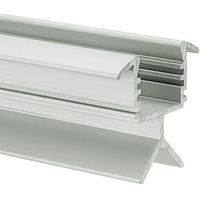 3.28 ft. Anodized Aluminum POR Channel - For LED Tape Light and Strip Light - Lens Sold Separately - Klus B6144ANODA_1