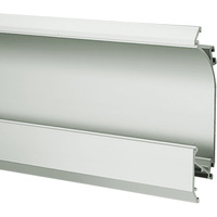 3.28 ft. Anodized Aluminum OBIT Channel - For LED Tape Light and Strip Light - Lens Sold Separately - Klus W4826ANODA_1