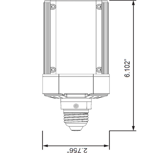Wall Pack Led Retrofit Lamps : Light Efficient Design LED-8087M40-A - Wall Pack LED - 4000K