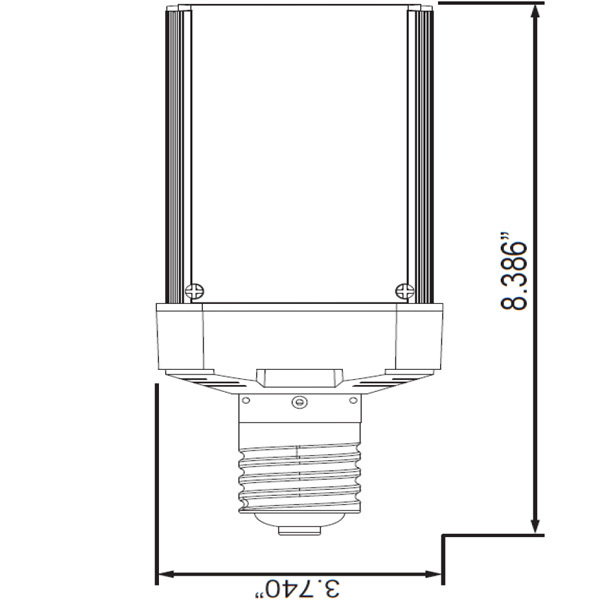 5870 Lumens - 50 Watt - LED Wall Pack Retrofit Lamp Image