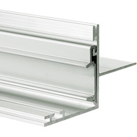 3.28 ft. Non-Anodized Aluminum NISA-NI Channel - For LED Tape Light and Strip Light - Lens Sold Separately - Klus 18029NA_1
