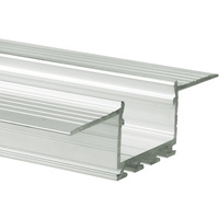6.56 ft. Non-Anodized Aluminum KOZUS Channel - For LED Tape Light and Strip Light - Lens Sold Separately - Klus B7823NA_2