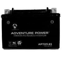 UPG 43015/46069 - OEM APTX9-BS - Motorcycle Battery - Dry Charge AGM - 12 Volt - 8 Ah Capacity - D Terminal