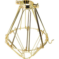 Light Bulb Cage - Open/Close Style - Polished Brass - Clamp Mount - PLT 37-0102-10