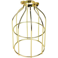 Light Bulb Cage - Open Style - Polished Brass - Clamp Mount - PLT 37-0107-10