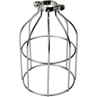 Light Bulb Cage - Open Style - Polished Nickle - Clamp Mount