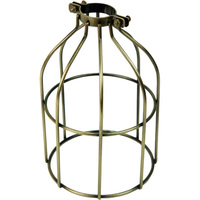 Light Bulb Cage - Open Style - Antique Brass - Clamp Mount - PLT 37-0107-30