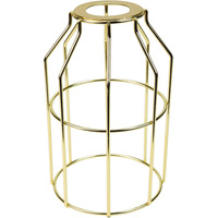 Light Bulb Cage - Open Style - Polished Brass - Large Washer Mount - PLT 37-0109-10