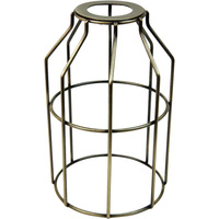Light Bulb Cage - Open Style - Antique Brass - Large Washer Mount - PLT 37-0109-30
