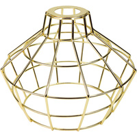 Light Bulb Cage - Large Basket Style - Polished Brass - Large Washer Mount - PLT 37-0114-10