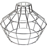 Light Bulb Cage - Large Basket Style - Polished Nickel - Large Washer Mount