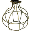 Light Bulb Cage, Large Sphere Style, Antique Brass