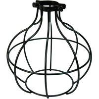 Light Bulb Cage - Sphere Style - Black - Large Clamp Mount
