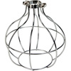 Light Bulb Cage, Large Sphere Style, Polished Nickel