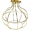 Light Bulb Cage, Large Sphere Style, Polished Brass