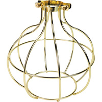 Light Bulb Cage - Sphere Style - Polished Brass - Large Clamp Mount - PLT 37-0116-10