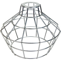 Light Bulb Cage - Large Basket Style - Galvanized - Oversized Washer Mount