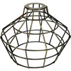 Light Bulb Cage, Large Basket Style, Antique Brass