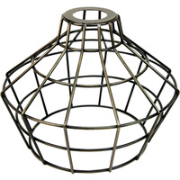 Light Bulb Cage - Large Basket Style - Antique Brass - Oversized Washer Mount - PLT 37-0114-30