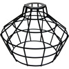 Light Bulb Cage, Large Basket Style, Black Metal