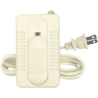 Ivory - Lamp Foot Dimmer - 500 Watt Max. - Single Pole - Slide Switch with On/Off Indicator LED