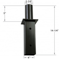 14.25 in. Tenon Adapter - For use with 2-3/8 in. Slipfitter Fixture and 5 in. Square Pole
