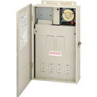 Intermatic T40004R - Pool-Spa Mechanical Control Panel - (1) T104M Mechanism - Steel Case - Beige Finish - DPST - 125 Amps - 240 Volt