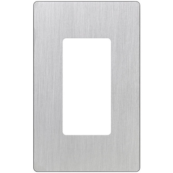 Decorator Wall Plate - Stainless Steel - 1 Gang Image