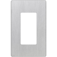 Stainless Steel - Screwless - 1 Gang - Decorator Wall Plate - Lutron Claro CW-1-SS