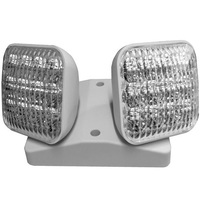 LED Double Remote Lamp Head - For Use with LED-90R Emergency Lighting Units - White - Exitronix MLED2-W