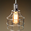 Jar Shaped Cage Pendant, Polished Nickel Fixture, Includes Polished Nickel Cage