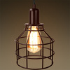 Jar Shaped Cage Pendant, Bronze Fixture, Includes Bronze Cage