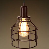 Jar Shaped Cage Pendant - Bronze Fixture - Includes Bronze Cage