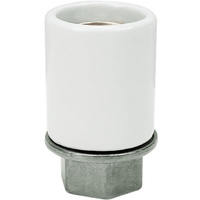 Medium Base Socket - White Porcelain - 1/2 IPS - 660 Watt Maximum - 250 Volt Maximum - PLT D77