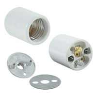 Medium Base Socket - Keyless - White Porcelain - 1/4 IPS Hickey Mount - 660 Watt Maximum - 250 Volt Maximum - PLT 40-0076-99