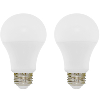 1100 Lumens - 12 Watt - 75W Incandescent Equal - LED - A19 - 3000 Kelvin Halogen White - Color Corrected - Omni-Directional - 2 Pack